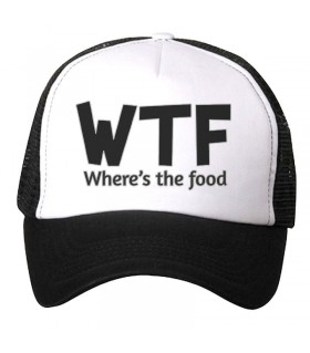 wtf art printed cap